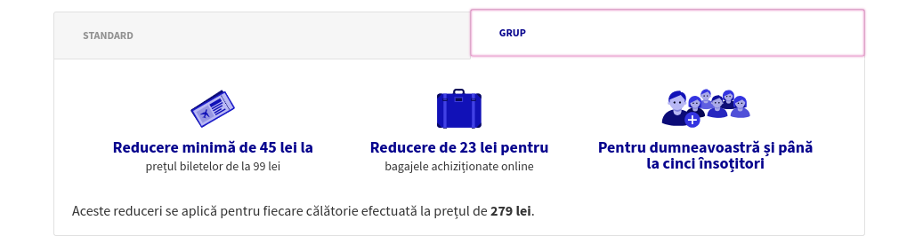 Wizz Discount Club - Screenshot detalii abonament grup