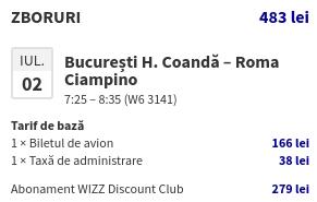 WizzAir - Screenshot  Discount Club